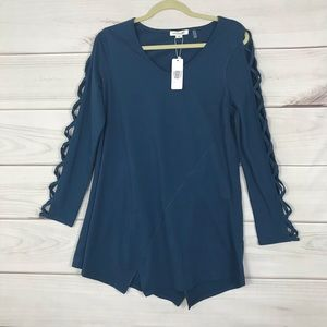 Simply Noelle NWT Tunic Blue Soft Stretch S/M